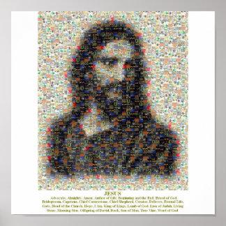 Jesus Mosaic Poster