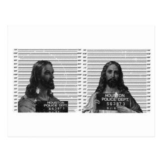 Jesus Mugshot Postcard