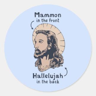 Jesus Mullet Classic Round Sticker