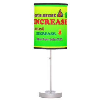 Jesus Must Increase! I Must Decrease! Table Lamp