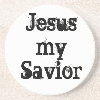 Jesus my Savior Drink Coaster