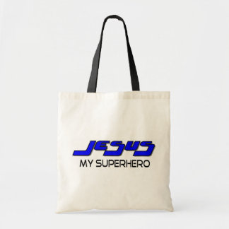 Jesus my superhero tote bag