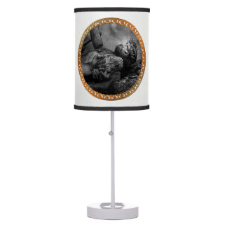 Jesus Nailed with his arms and hands being fasten Table Lamp