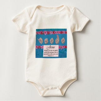 Jesus Name Above All Names Baby Bodysuit