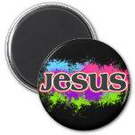 Jesus Neon Static Refrigerator Magnet