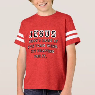 Jesus: Not a Sports Fan Black-White T-Shirt