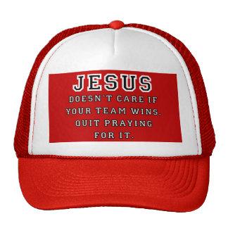 Jesus: Not a Sports Fan Black-White Trucker Hat
