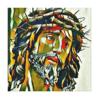 Jesus Of Nazareth Oil On Canvas Portrait