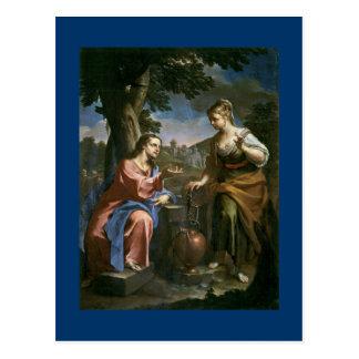 Jesus Offers Living Water Postcard