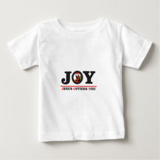 Jesus offers you joy label baby T-Shirt