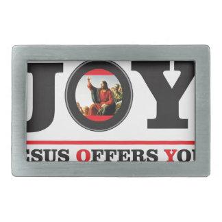 Jesus offers you joy label belt buckles