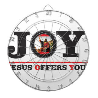 Jesus offers you joy label dartboard