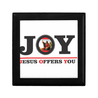 Jesus offers you joy label gift box