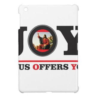 Jesus offers you joy label iPad mini case