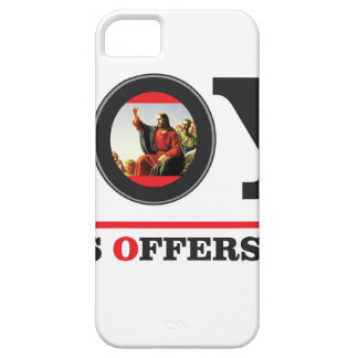 Jesus offers you joy label iPhone 5 cover
