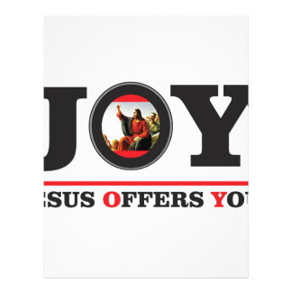 Jesus offers you joy label letterhead
