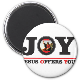 Jesus offers you joy label magnet