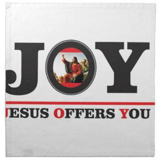 Jesus offers you joy label napkin