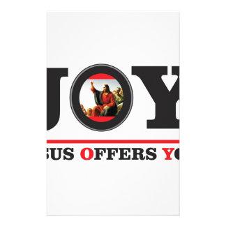 Jesus offers you joy label stationery