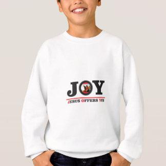 Jesus offers you joy label sweatshirt