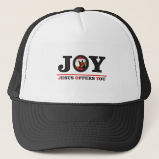 Jesus offers you joy label trucker hat