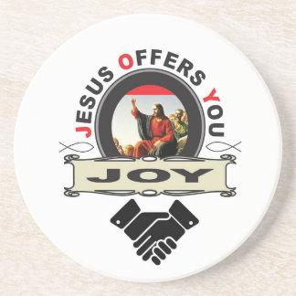 Jesus offers you joy logo coaster