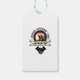 Jesus offers you joy logo gift tags