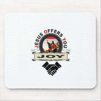 Jesus offers you joy logo mouse pad