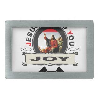Jesus offers you joy logo rectangular belt buckle