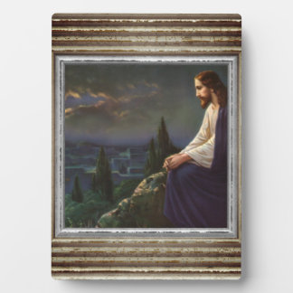 Jesus On A Mountain Plaque