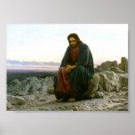 Jesus on a Rock in the Desert
