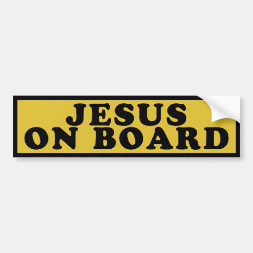 Jesus On Board Bumper Sticker