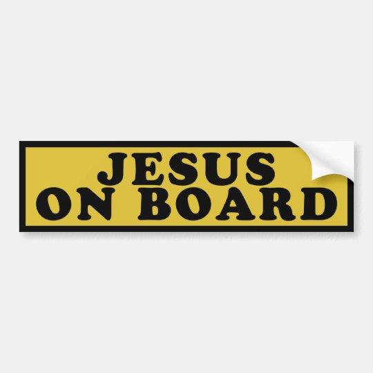 Jesus On Board Bumper Sticker