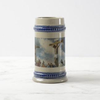 Jesus on Cross Beer Stein