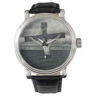 Jesus on the Cross at the Sea Wristwatch