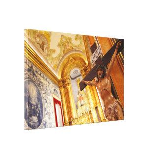 Jesus on the cross canvas print