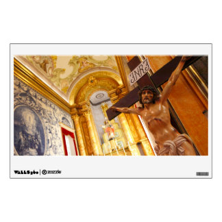 Jesus on the cross wall decal