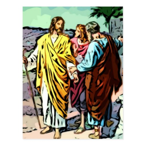 Jesus on the Road to Emmaus Post Card
