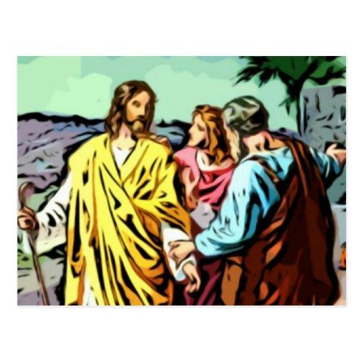 Jesus on the Road to Emmaus Postcard
