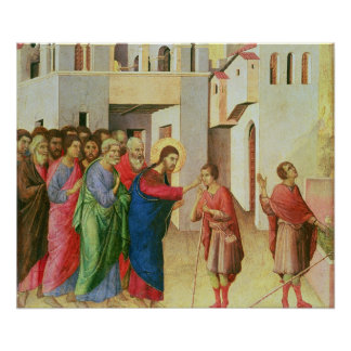 Jesus Opens the Eyes of a Man Born Blind, 1311 Poster