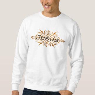 Jesus Ornement2 Cuivre noir. Sweatshirt