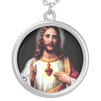 Jesus, Our Savior Silver Plated Necklace