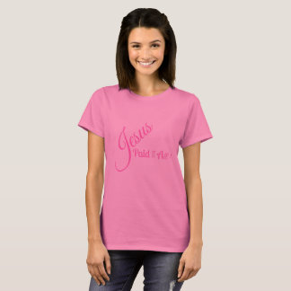 Jesus Paid It All Graphic Pink On Pink Tee