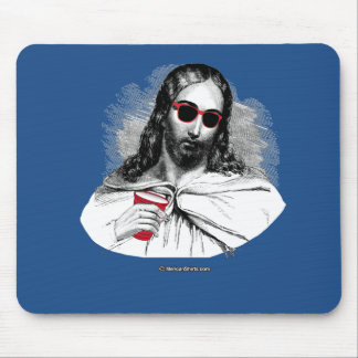 Jesus Party Animal Mouse Pad