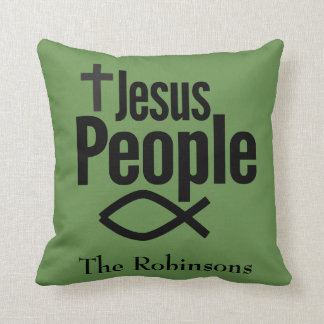 Jesus People Christian Throw Pillow