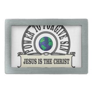 Jesus power forgive sin in world belt buckles