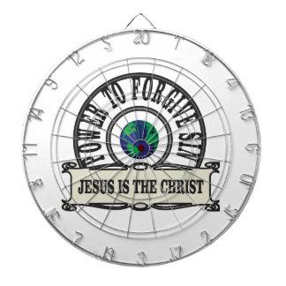 Jesus power forgive sin in world dartboard