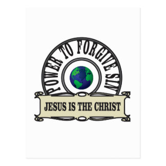Jesus power forgive sin in world postcard
