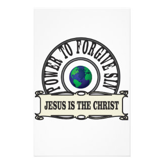 Jesus power forgive sin in world stationery