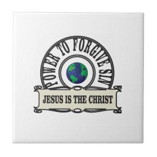 Jesus power forgive sin in world tile